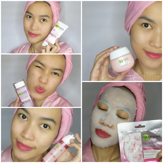 Garnier Sakura White Series - Night Routine