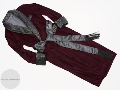 mens luxury velvet dressing gown red burgundy full length warm lined quilted silk classic traditional