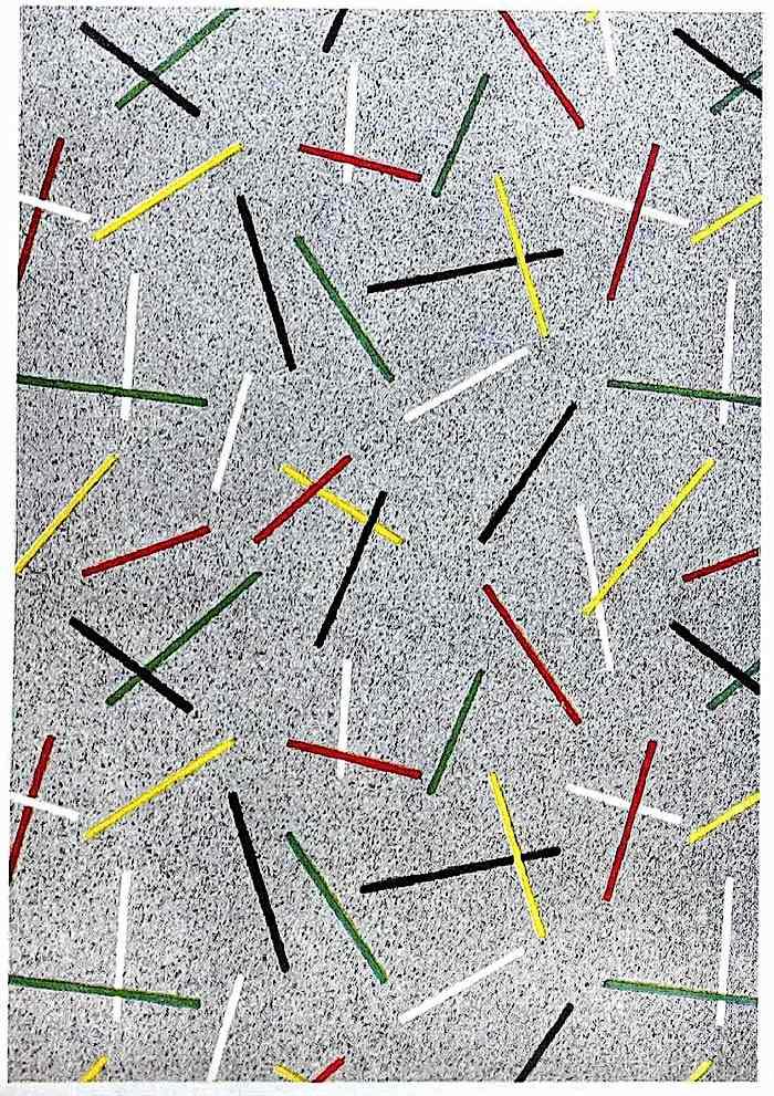 956 linoleum flooring, a color photograph