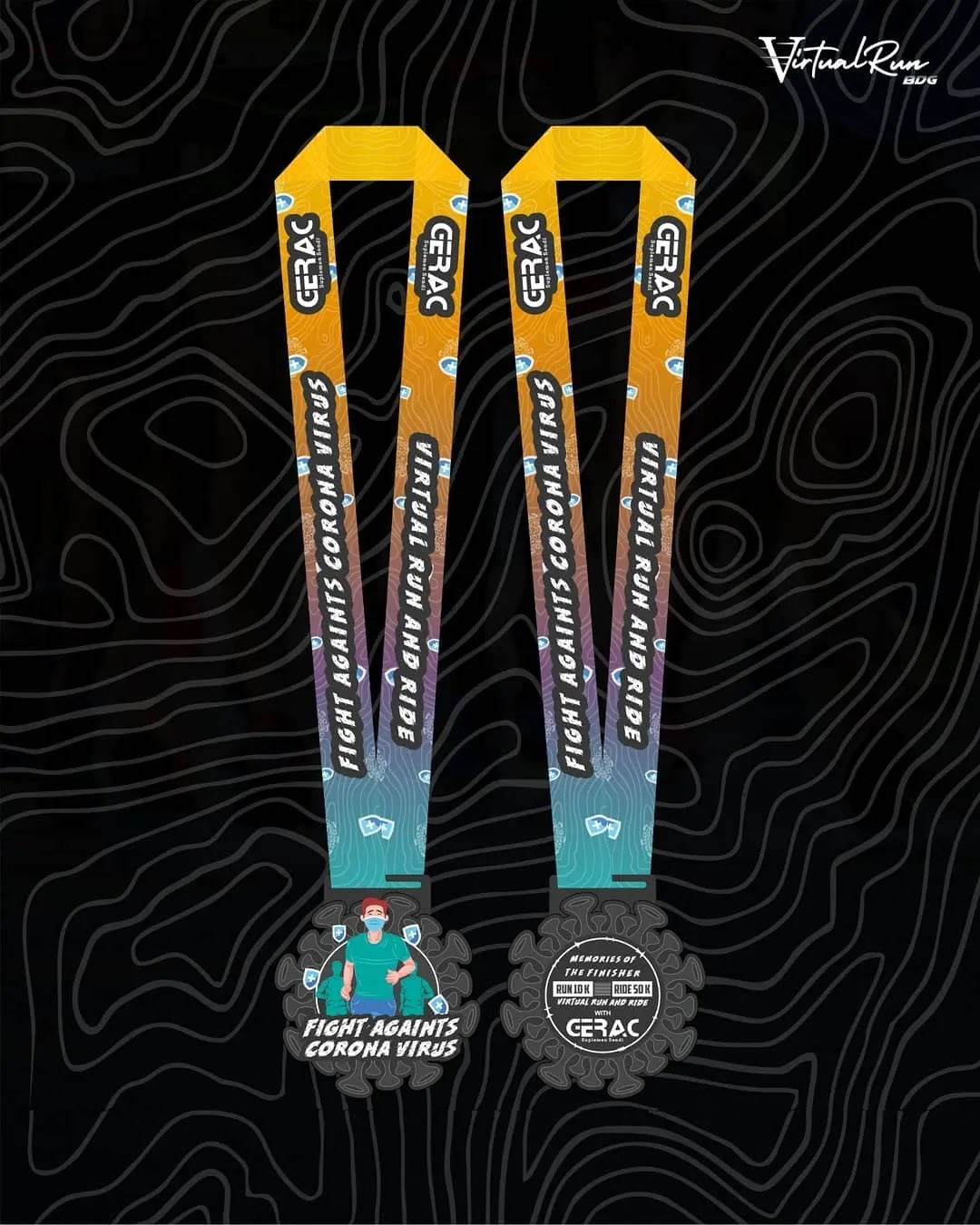 Medali � Virtual Run & Ride GERAC • 2021