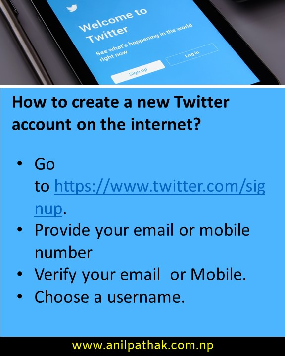 How to create a new Twitter account on the internet?