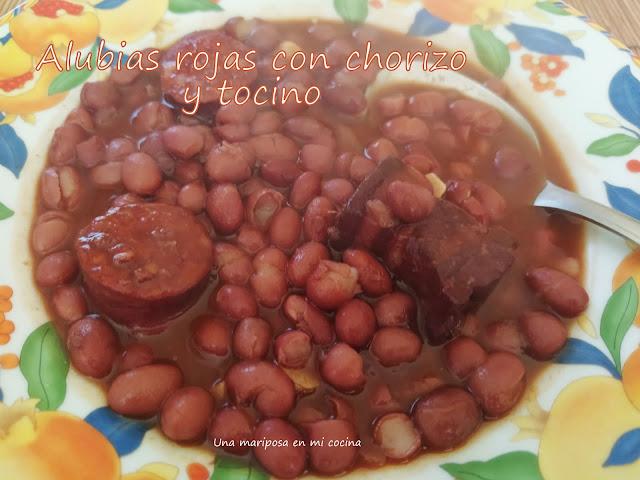 Alubias Rojas De Anguiano Con Tocino Y Chorizo