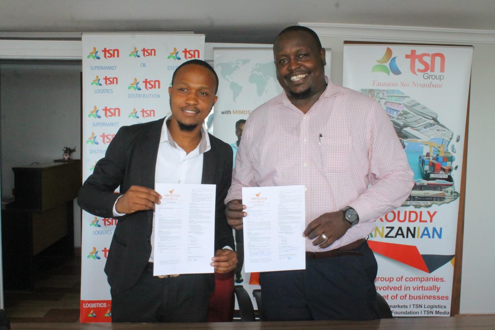Tsn Group Tanzania Na Mimosa Concierge Wasaini Mkataba Leo Dar Es Salam Tanga Raha Blog