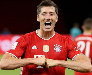 Top goal scorer in European football 2019-20: Lewandowski is the top in UCL.