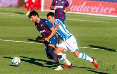 Video Levante 1-1 Real Sociedad: Vòng 34, VĐQG Tây Ban Nha