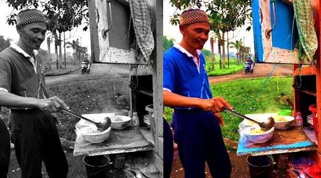 Alhamdulillah, 27 Tahun Berjualan Mie Ayam Cuma Rp 6.000 Bapak Mampu Sarjanakan Anak Hingga Naik Haji