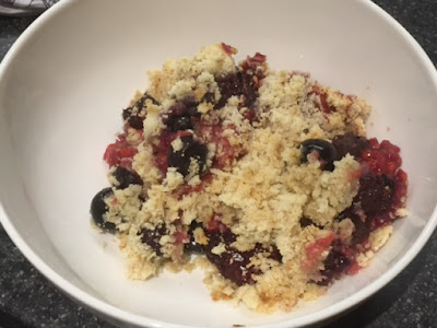 Summer Fruit Crumble in a bowl
