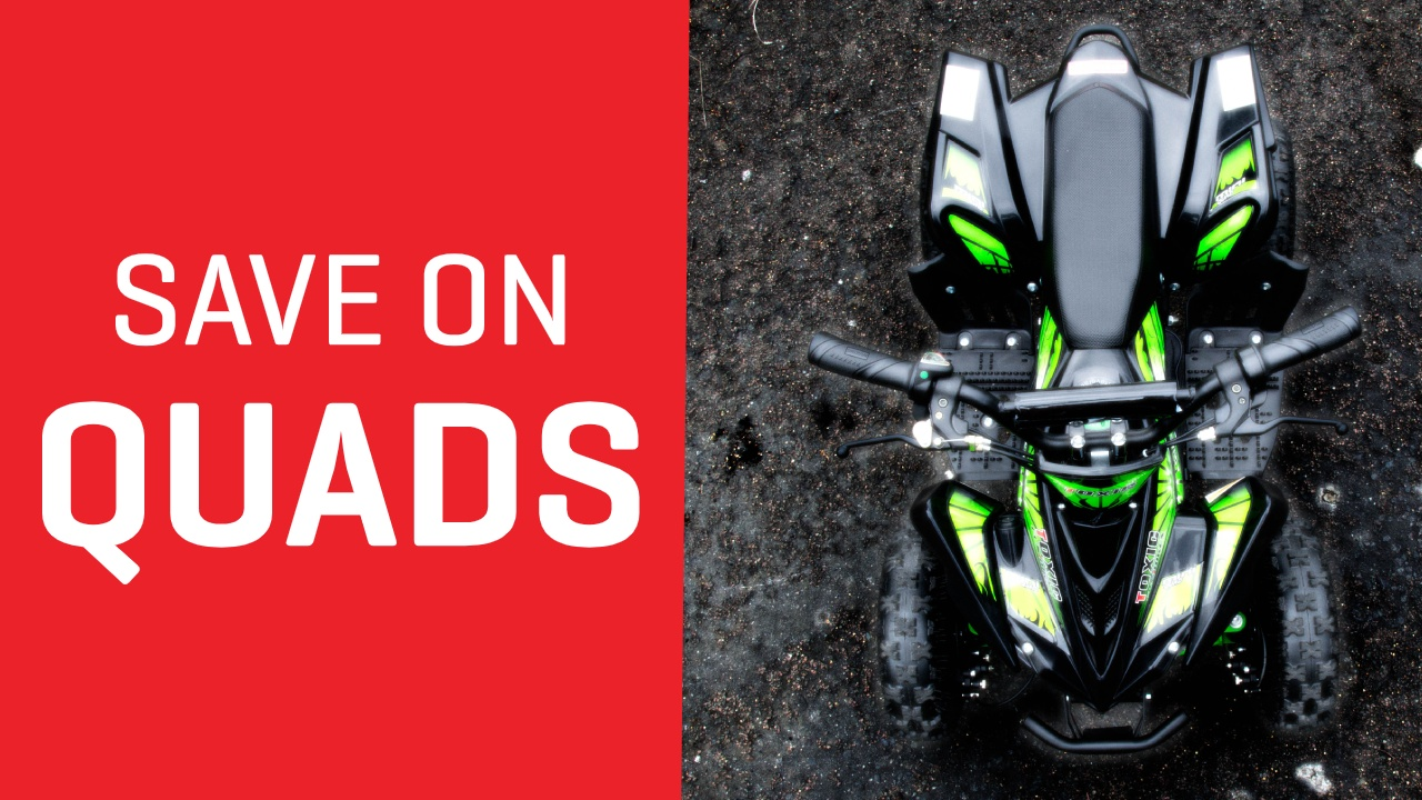 Save on Quad Bikes