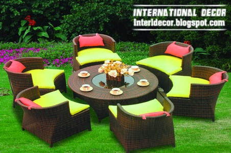 outdoor furniture set, coffee table and chairs, modern outdoor furniture