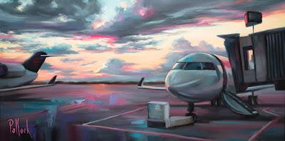 Awaiting Takeoff painting