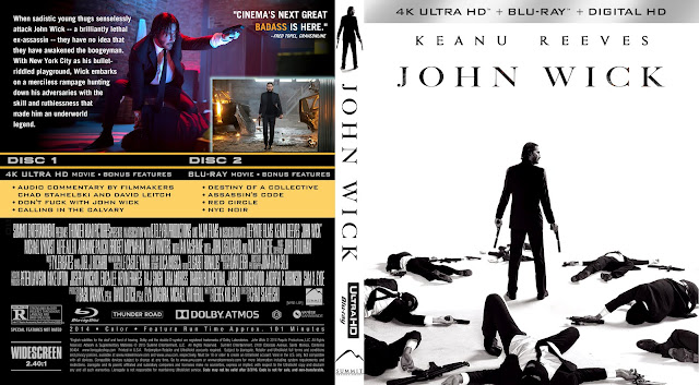 John Wick 4k Bluray Cover