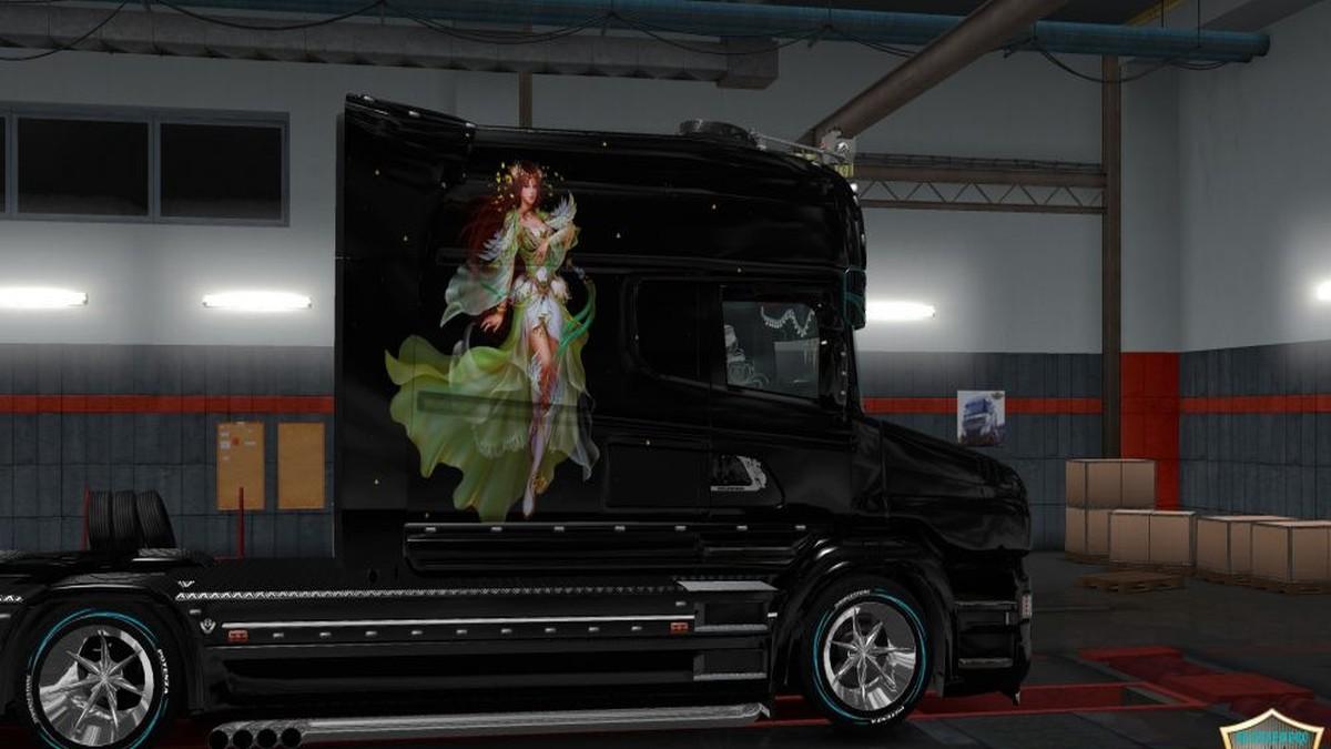 Scania T Girl v3 Paint job