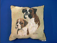 Boxer Dog Pillow Puppy with Adult