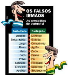 Falsos cognatos português e espanhol
