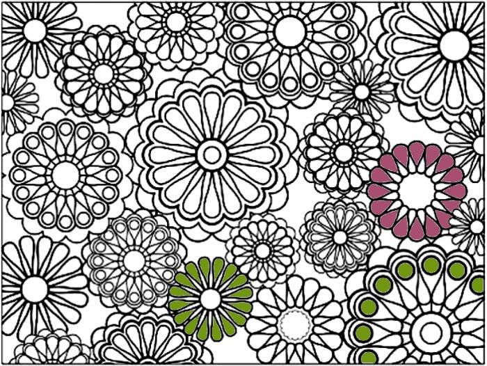 Láminas de flores para colorear - Guia de jardin