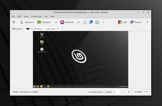 Shutter screenshot tool GTK3