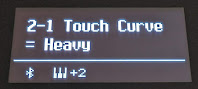 Keyboard touch curve setting