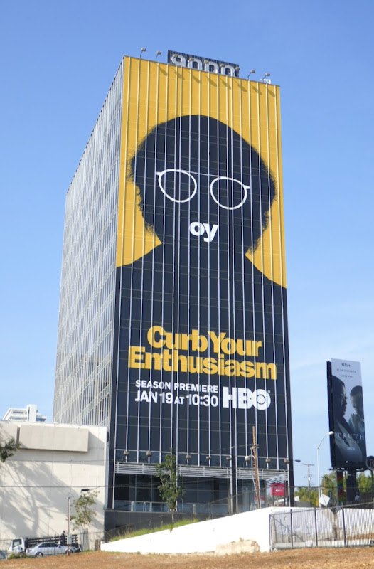 Giant Curb Your Enthusiasm s10 oy billboard