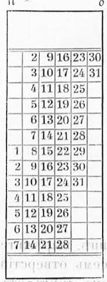 схема календаря