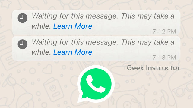 Fix waiting for this message in WhatsApp