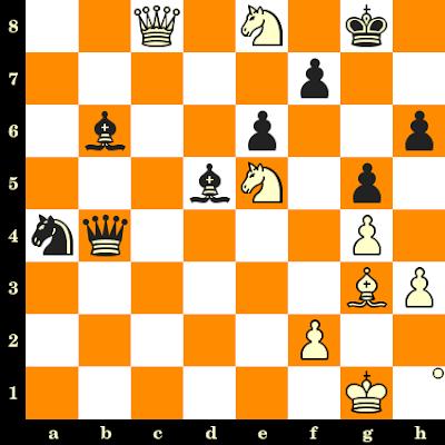 Les Blancs jouent et matent en 3 coups - Samuel Reshevsky vs Miguel Najdorf, Buenos Aires, 1953