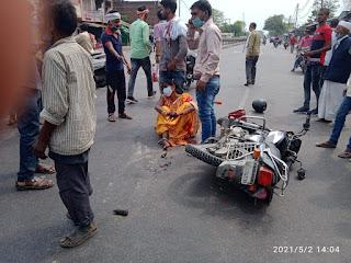 ट्रक की टक्कर से बाइक सवार दम्पत्ति की मौत