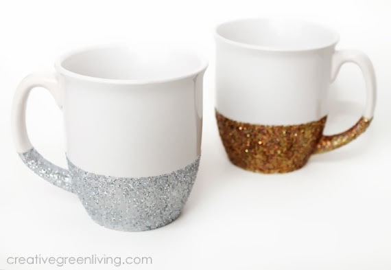 How to put glitter on a coffee mug and make it dishwasher safe