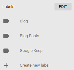 Google Keep Edit Labels