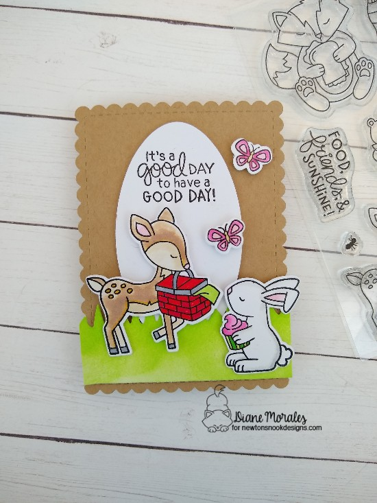 It's a good day by Diane featuring Bitty Bunnies and Woodland Picnic by Newton's Nook Designs; #newtonsnook