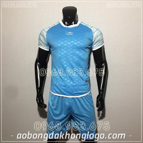 Áo bóng đá ko logo KeepFly VIP màu xanh ngọc