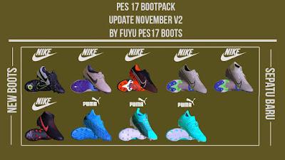 PES 2017 Boot Repack AIO November 2019 V2 by FuyuPES17 Boots
