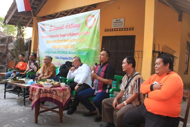 Muliakan Air Dan Lestarikan Sungai, Dandim Klaten Ikuti Dialog Bersama Relawan Sekolah Sungai Klaten