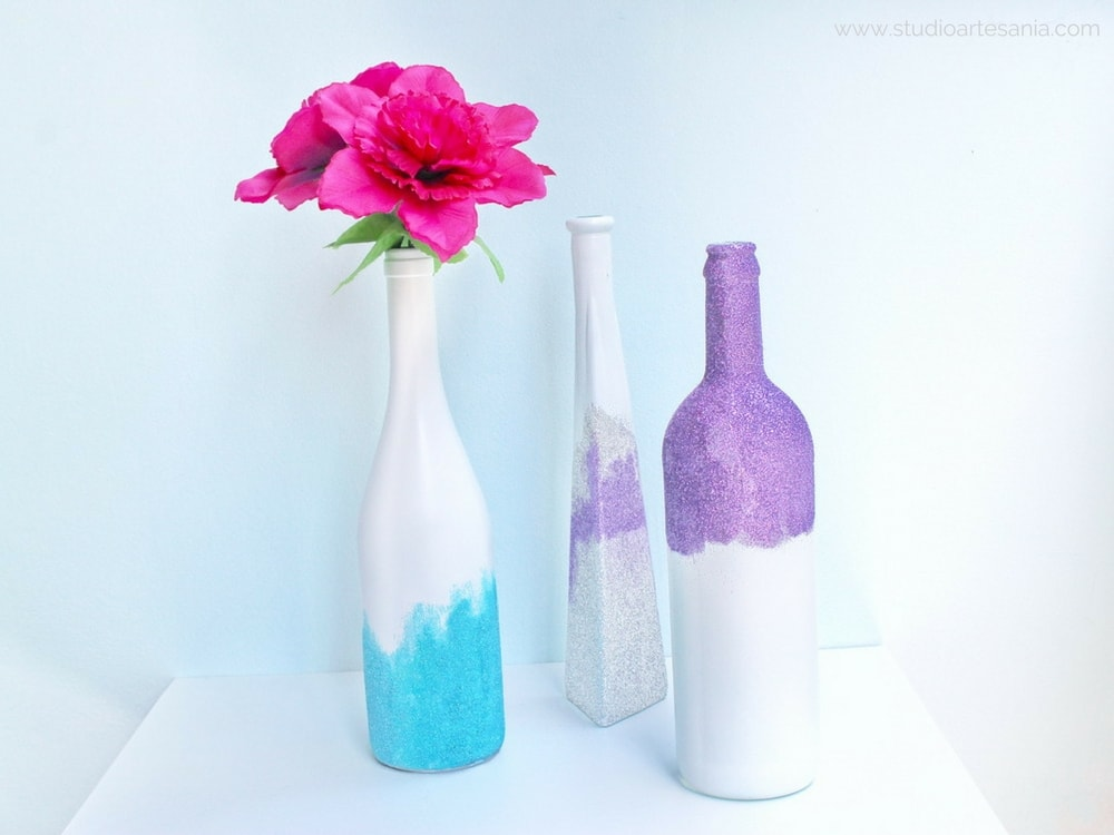 Diy Glitter Vases Studio Artesania