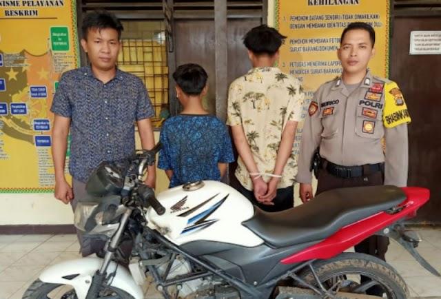 Dua Remaja Pencuri Motor Ditangkap Polsek Talang Padang