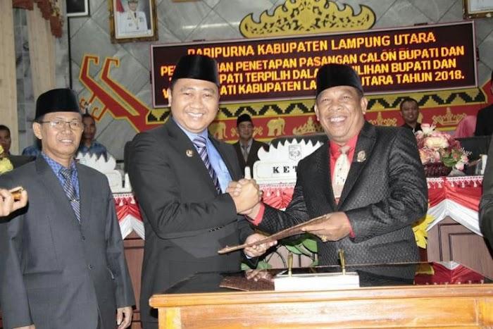 DPRD Lampura, Gelar Sidang lstimewa Penetapan Bupati dan Wakil Bupati terlilih.