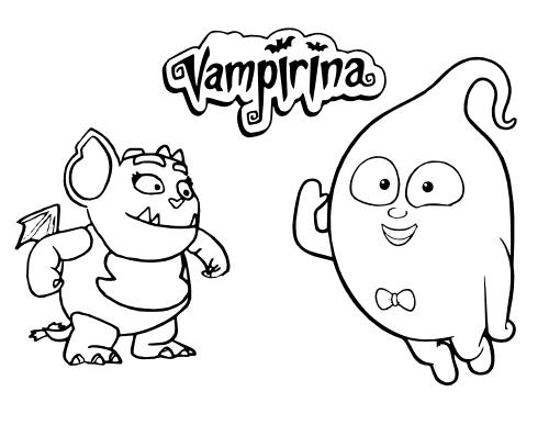 Imagenes De Vampirina Para Colorear: Ideas Y Material Para Fiestas Y Candy Bar: Dibujos De