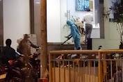 Phun thuốc khử trùng một khách sạn đối diện BV Chợ Rẫy ngay trong đêm