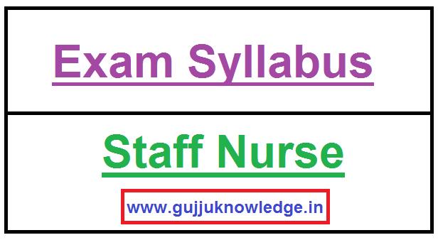 GPSSB Staff Nurse New Syllabus.
