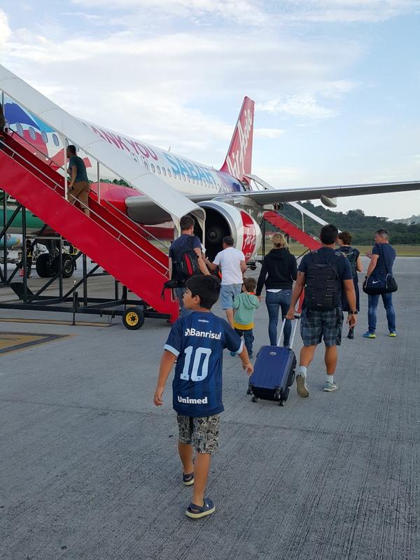 voando Air Asia na Malásia