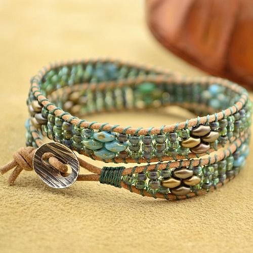 Leather cord bracelet instructions