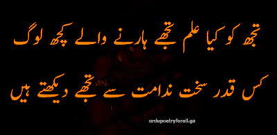 all sad urdu poetry