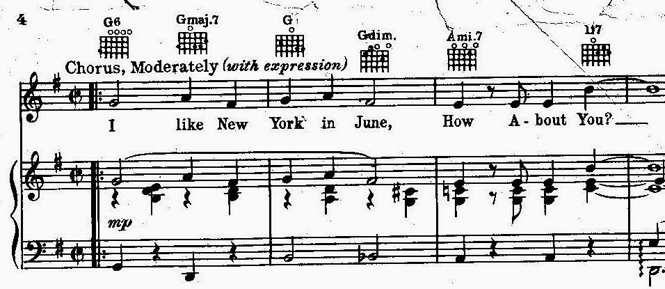 """Piano piano chords gmaj7 : Peter Spitzer Music Blog: """"Pennies"""" and """"How About You"""""""