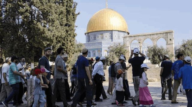 pengunjung yahudi di al-aqsa