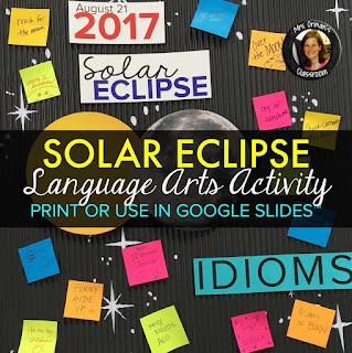 Solar Eclipse Activities https://www.teacherspayteachers.com/Product/Solar-Eclipse-2017-Activities-3339317
