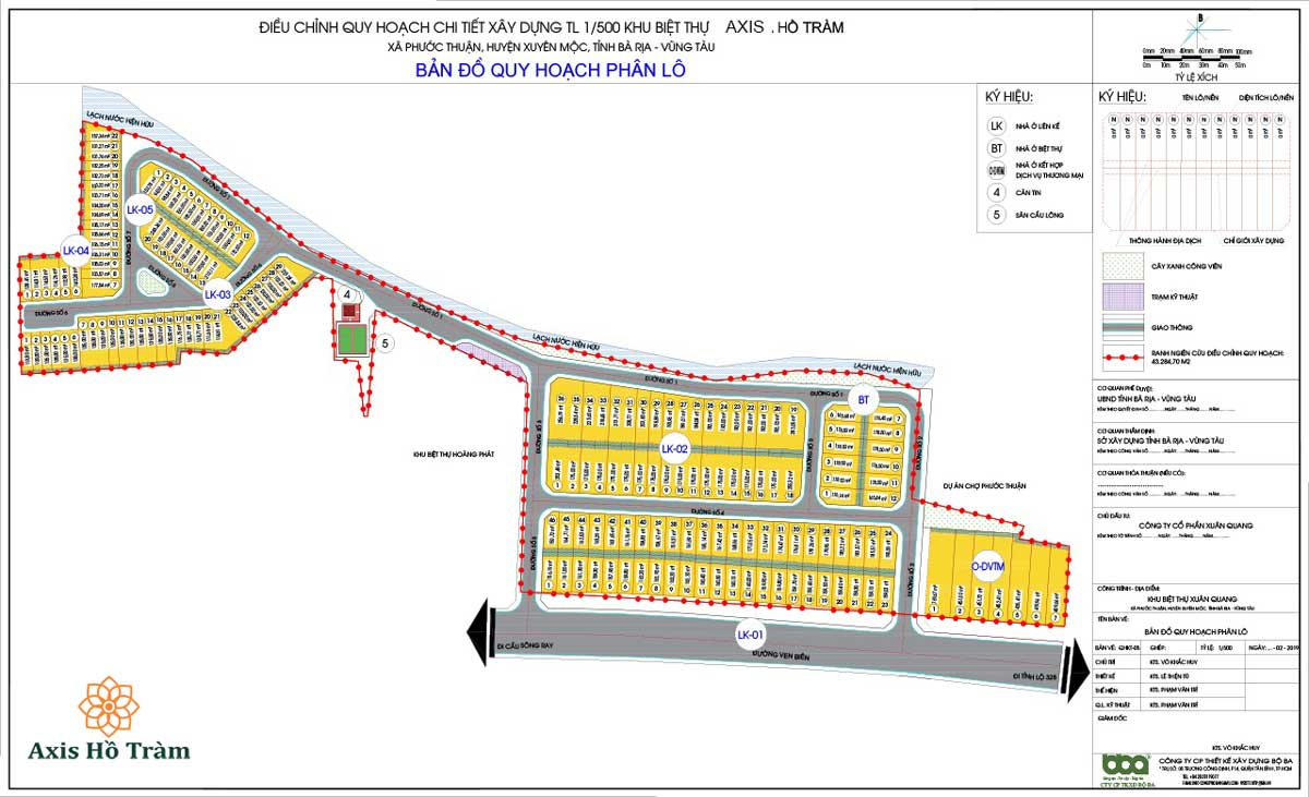 dự án bất động sản tại Hồ tràm ( vũng tàu )