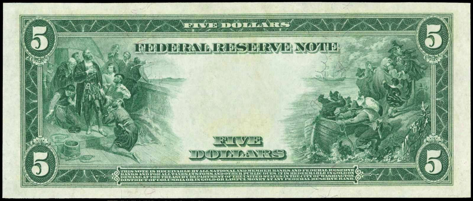 1914 5 Dollars Federal Reserve Note Red Seal