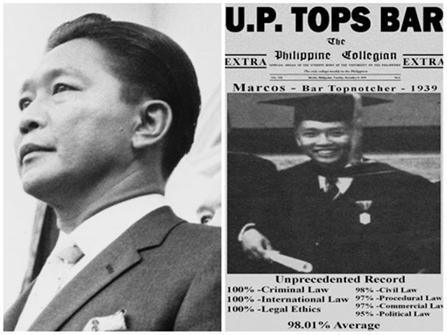Ferdinand Marcos Sr. Holds Record As The Highest Pointer In Bar Exam. See For Yourself!