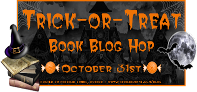 "A ""Trick-or-Treat Book Blog Hop"" banner"