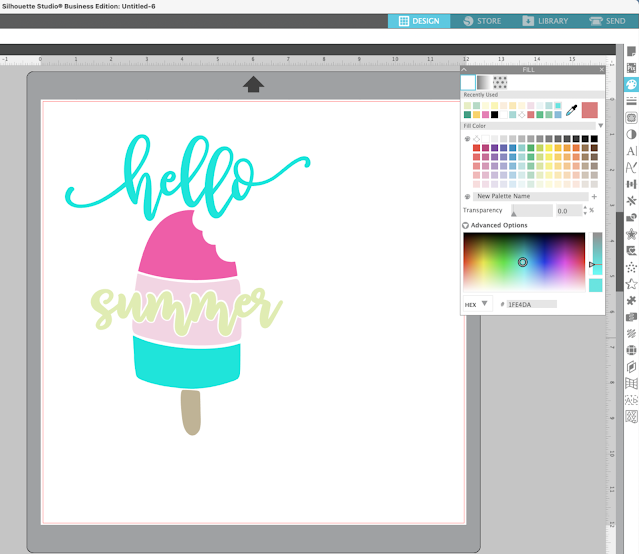 Stickers, Silhouette Studio, fill color tool, SVG designs, print and cut