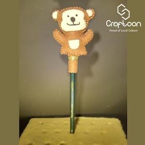 Boneka Lucu Karakter Monyet, Hiasan Pensil Kain Flanel